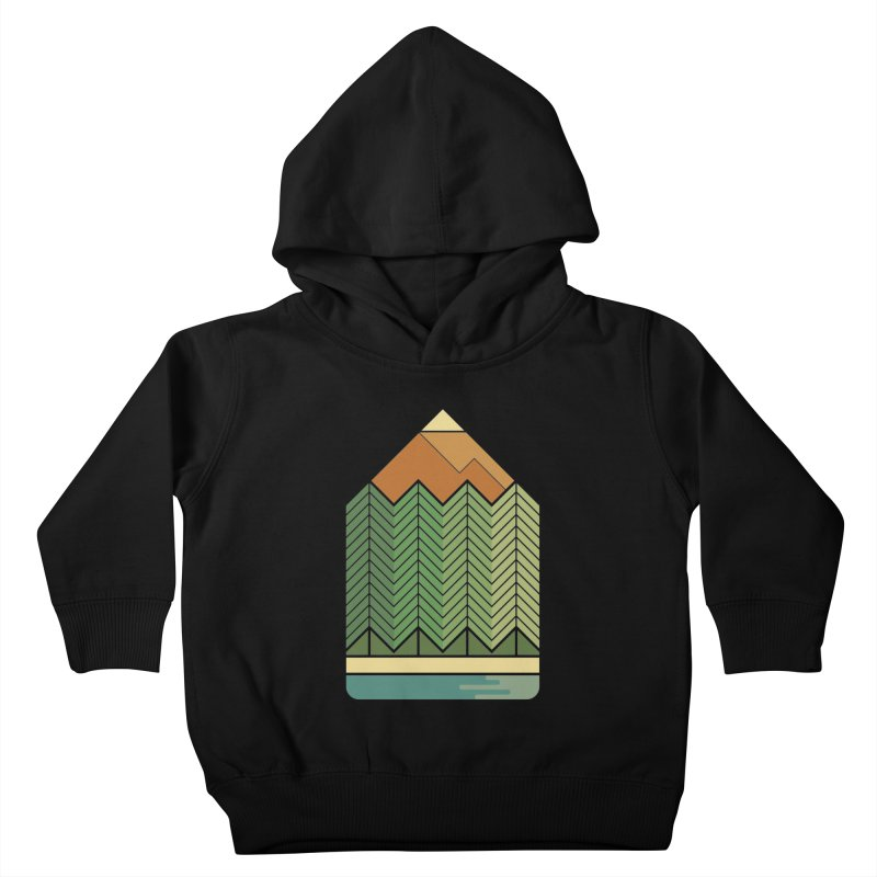 Draw landscape Kids Toddler Pullover Hoody by spike00