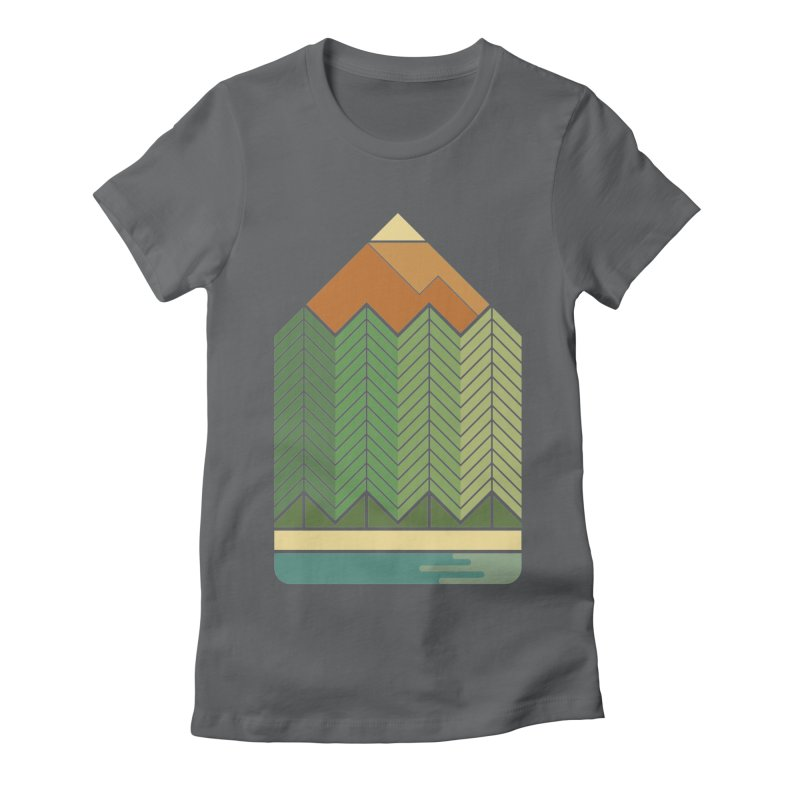 Draw landscape Women's Fitted T-Shirt by spike00