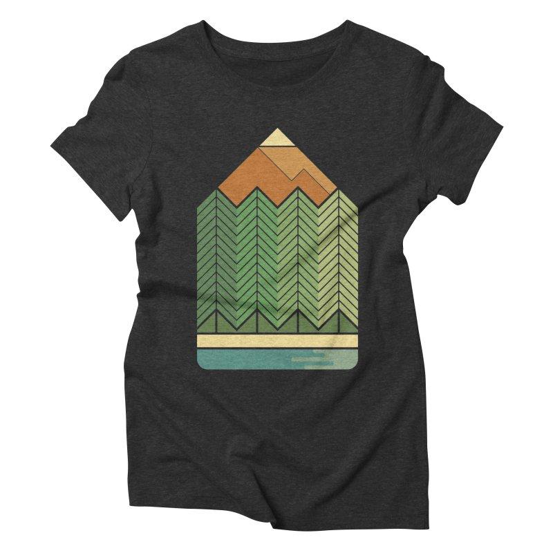Draw landscape Women's Triblend T-Shirt by spike00