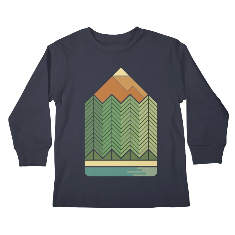 Draw landscape Kids Longsleeve T-Shirt by spike00