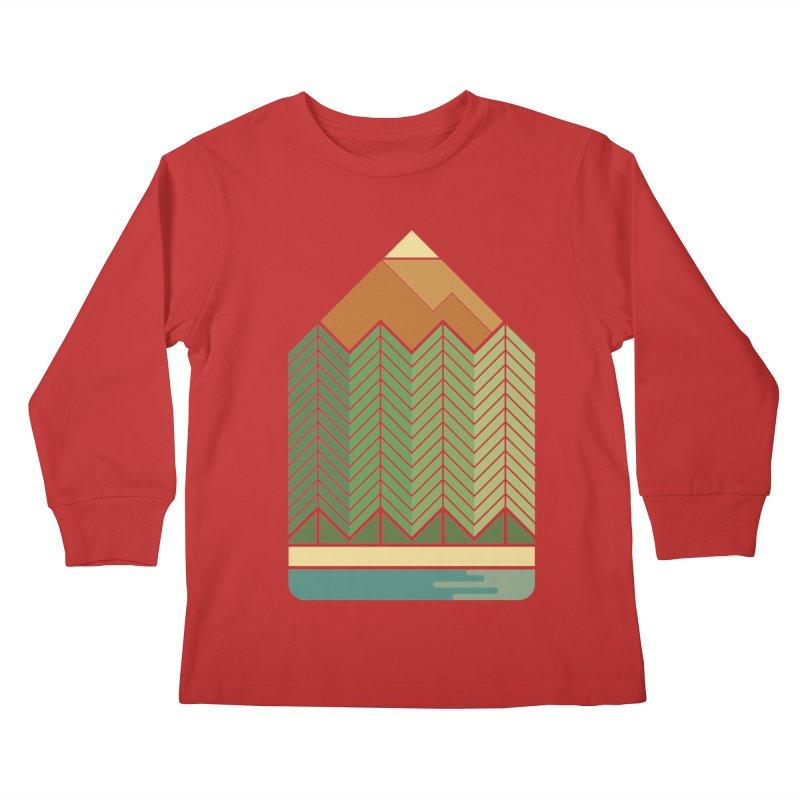 Draw landscape Kids Longsleeve T-Shirt by spike00