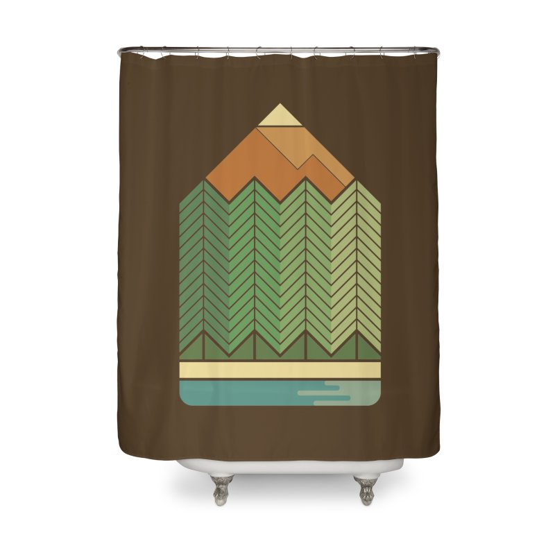 Draw landscape Home Shower Curtain by spike00