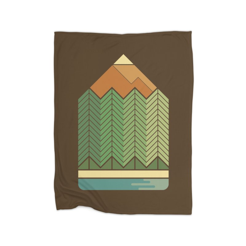 Draw landscape Home Blanket by spike00