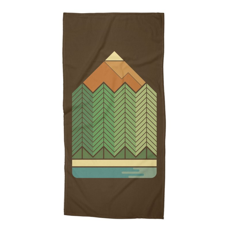 Draw landscape Accessories Beach Towel by spike00