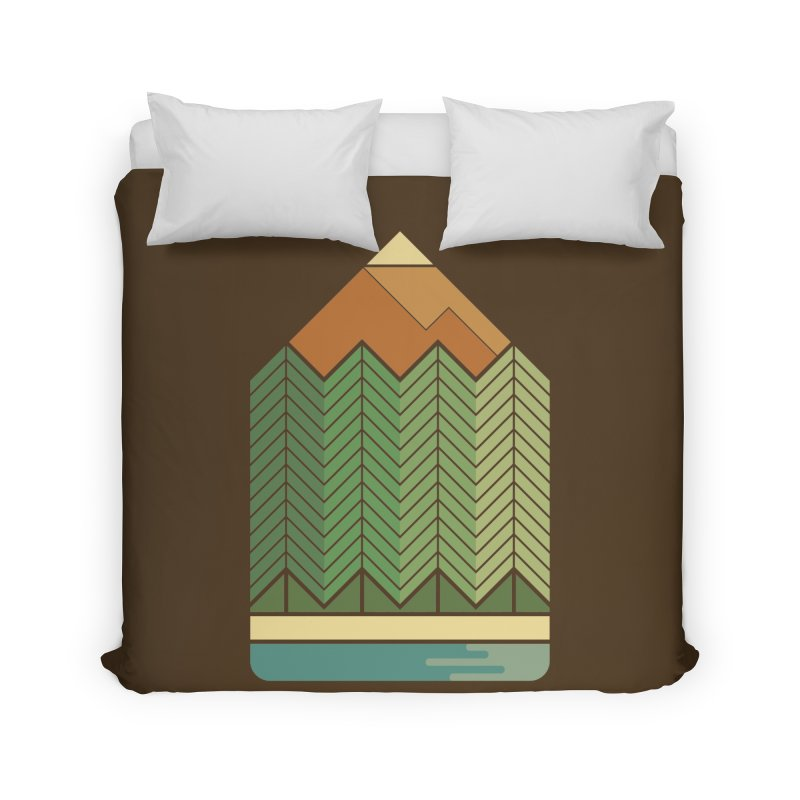 Draw landscape Home Duvet by spike00