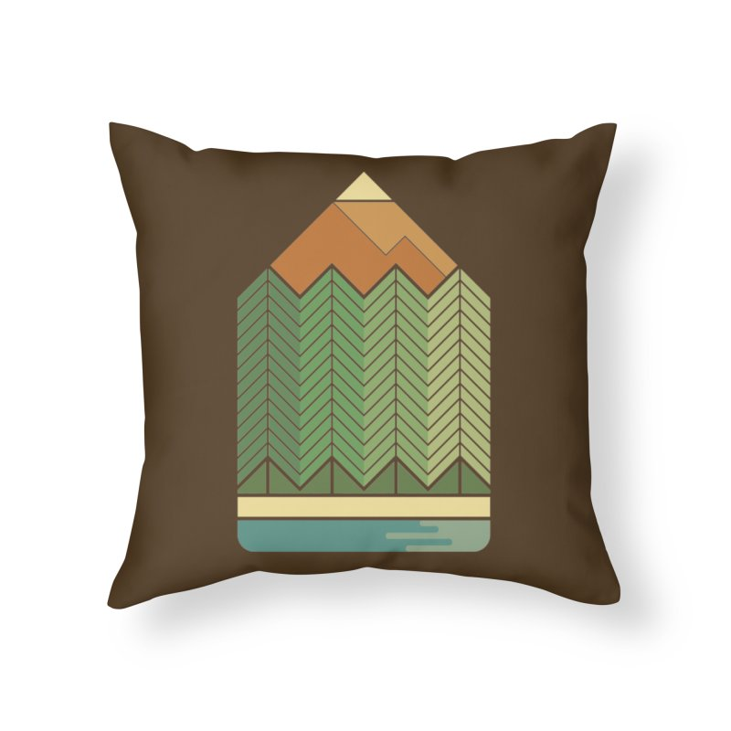 Draw landscape Home Throw Pillow by spike00