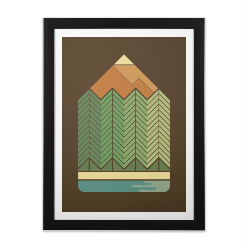 Draw landscape Home Framed Fine Art Print by spike00
