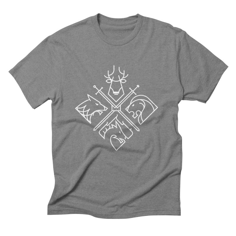 Minimal Thrones Men's Triblend T-shirt by spike00
