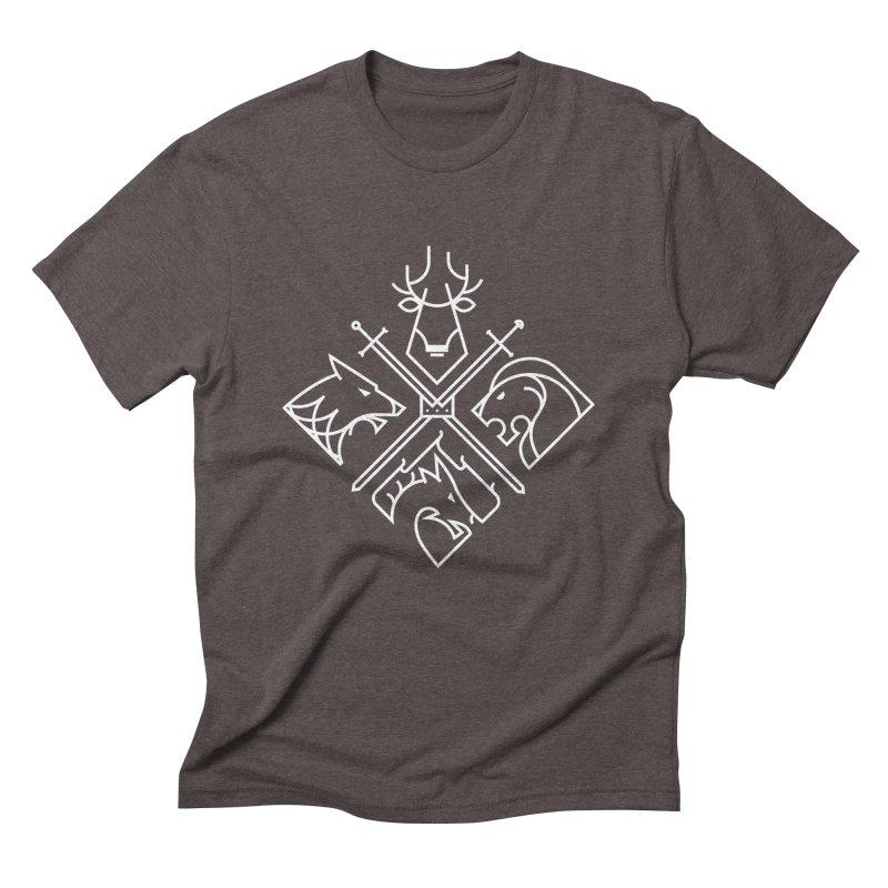 Minimal Thrones Men's Triblend T-shirt by spike00