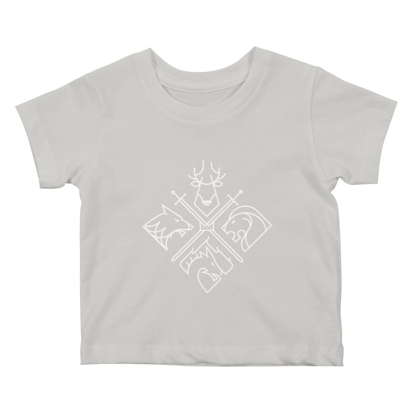 Minimal Thrones Kids Baby T-Shirt by spike00