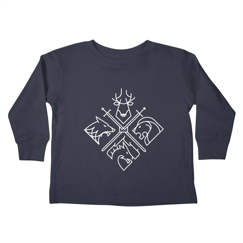 Minimal Thrones Kids Toddler Longsleeve T-Shirt by spike00
