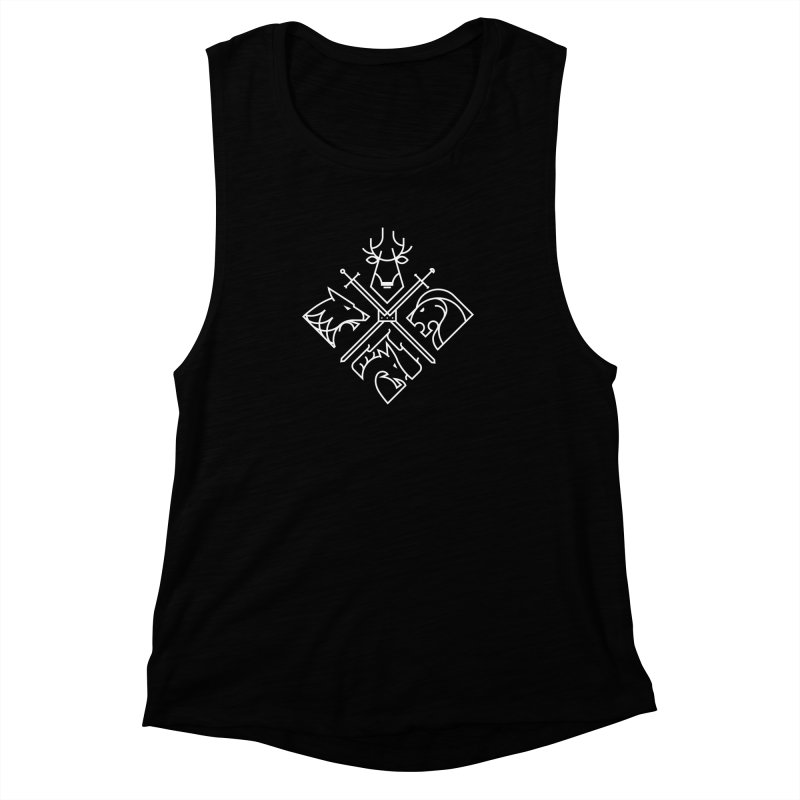 Minimal Thrones Women's Muscle Tank by spike00