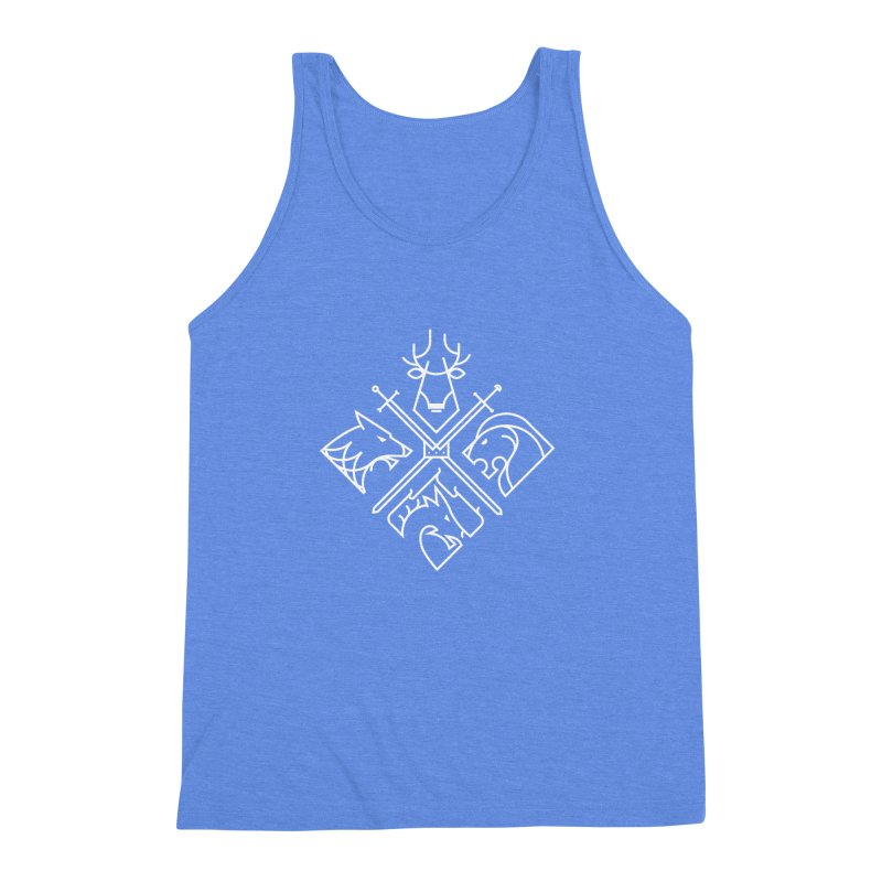 Minimal Thrones Men's Triblend Tank by spike00