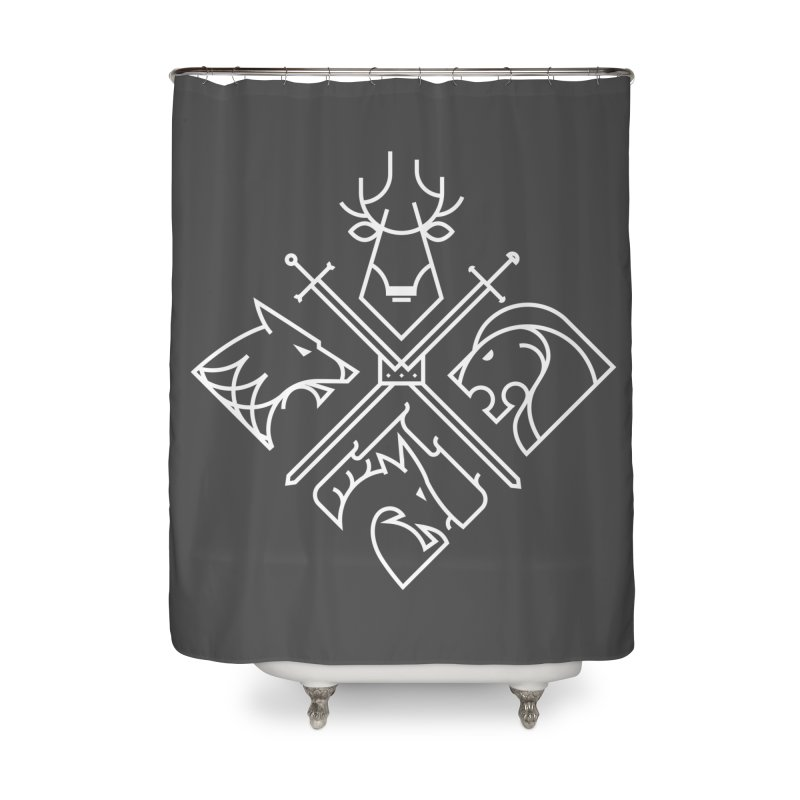Minimal Thrones Home Shower Curtain by spike00