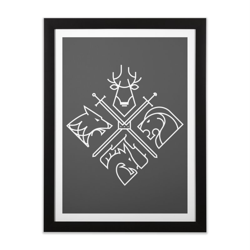 Minimal Thrones Home Framed Fine Art Print by spike00