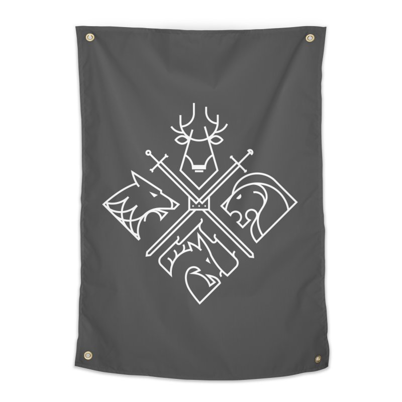 Minimal Thrones Home Tapestry by spike00