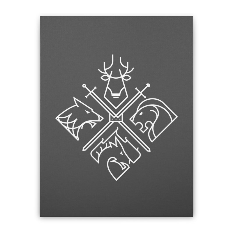 Minimal Thrones Home Stretched Canvas by spike00