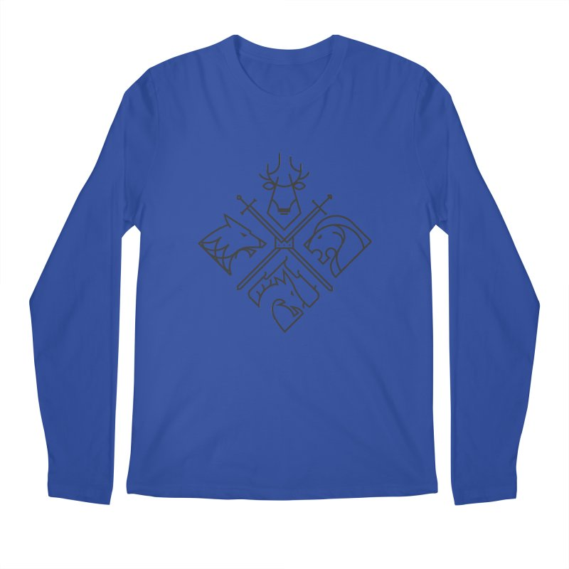 Minimal Thrones Black edition Men's Longsleeve T-Shirt by spike00