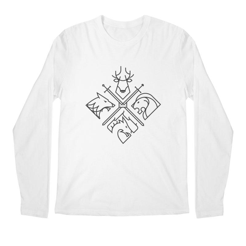 Minimal Thrones Black edition Men's Longsleeve T-Shirt by spike00