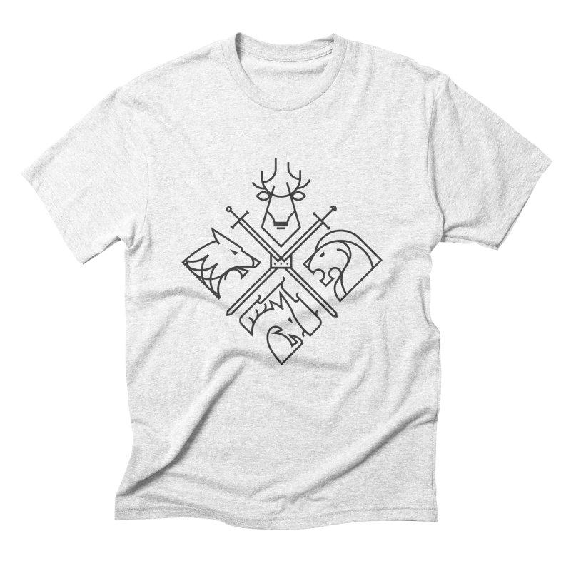 Minimal Thrones Black edition Men's Triblend T-shirt by spike00