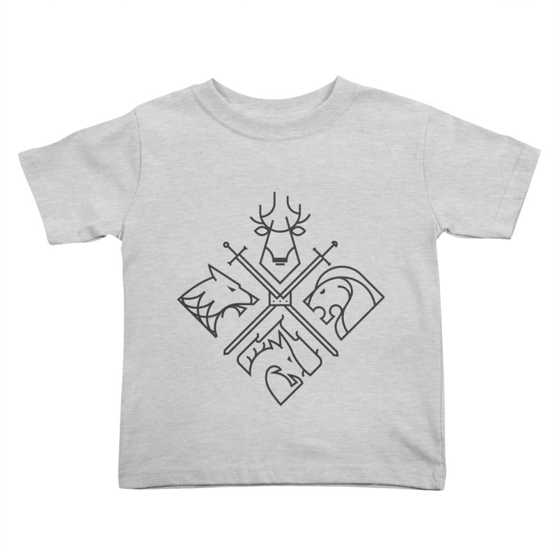 Minimal Thrones Black edition Kids Toddler T-Shirt by spike00