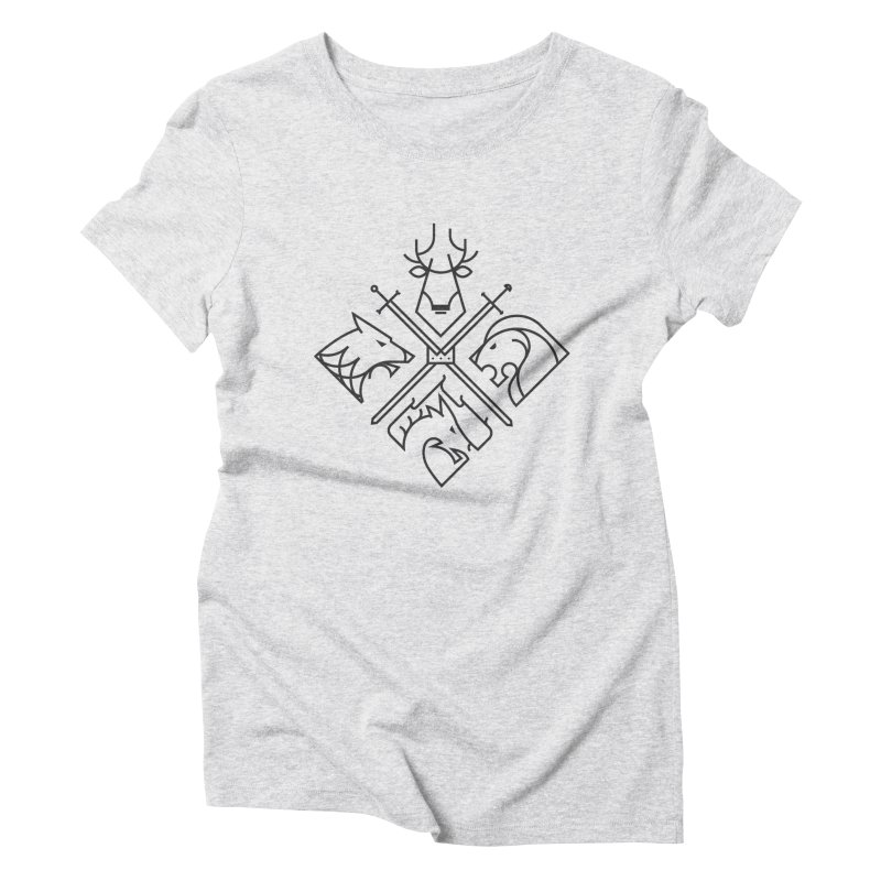 Minimal Thrones Black edition Women's Triblend T-shirt by spike00