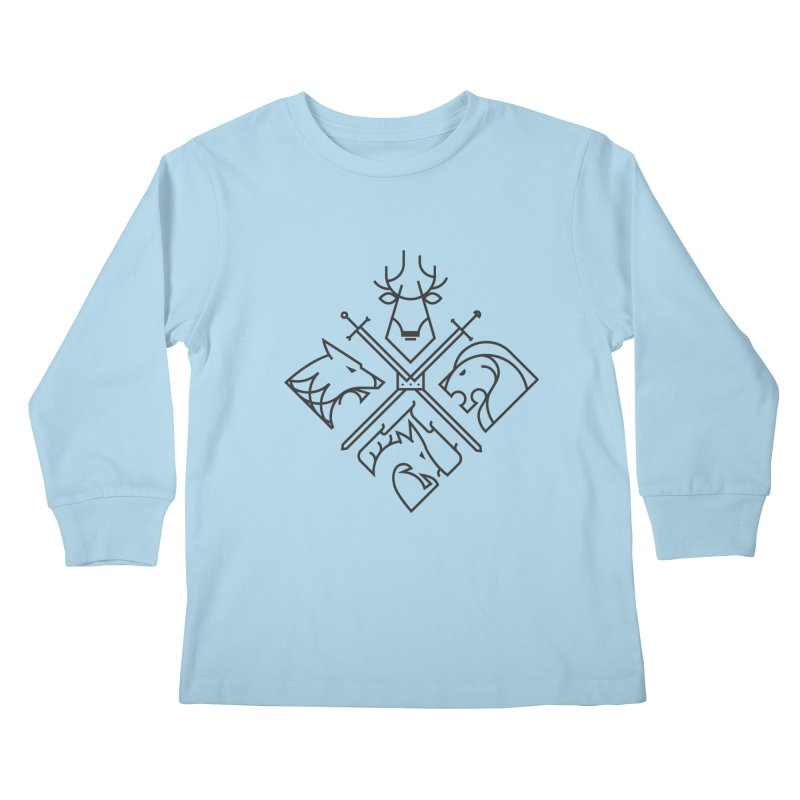 Minimal Thrones Black edition Kids Longsleeve T-Shirt by spike00
