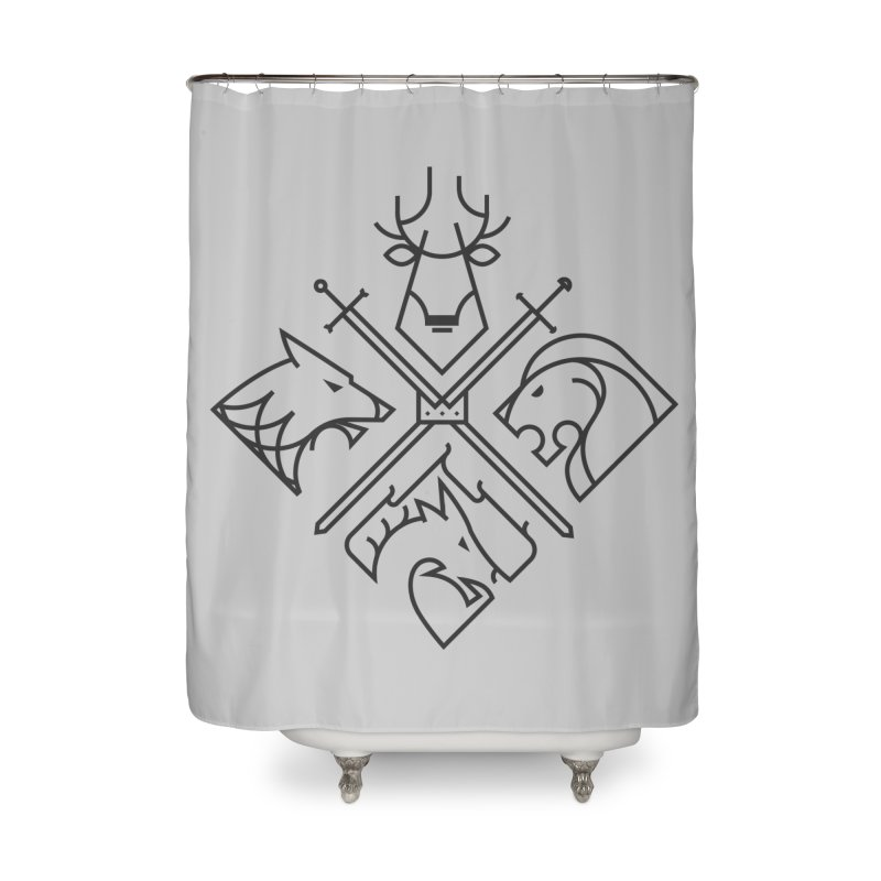 Minimal Thrones Black edition Home Shower Curtain by spike00