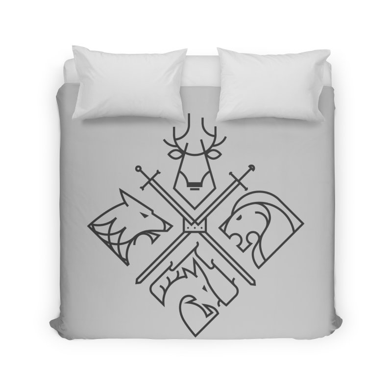 Minimal Thrones Black edition Home Duvet by spike00