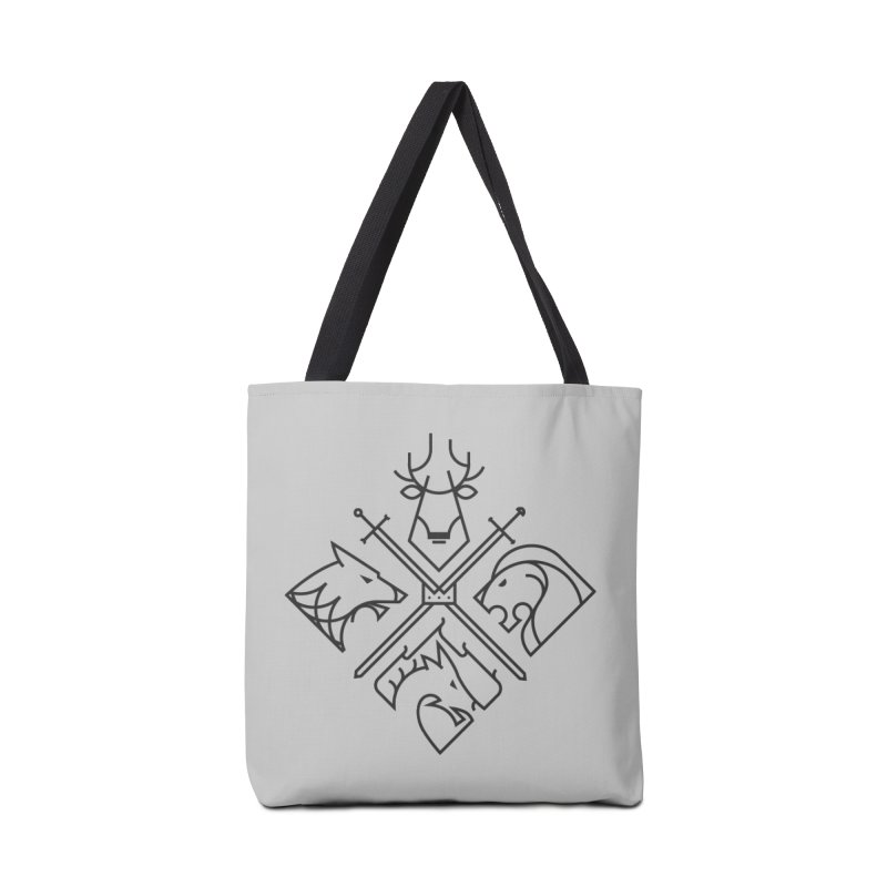 Minimal Thrones Black edition Accessories Tote Bag Bag by spike00