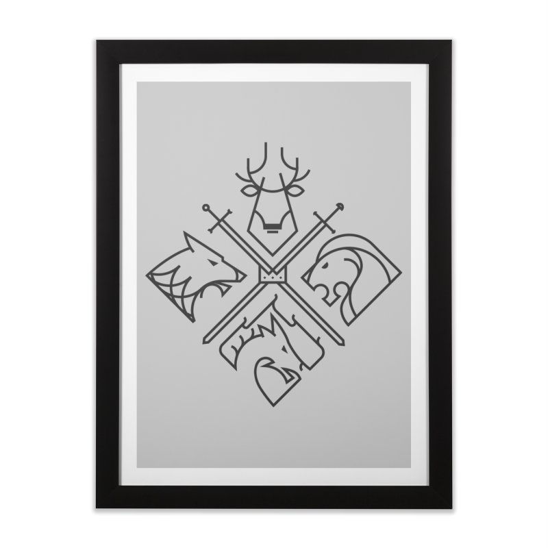 Minimal Thrones Black edition Home Framed Fine Art Print by spike00