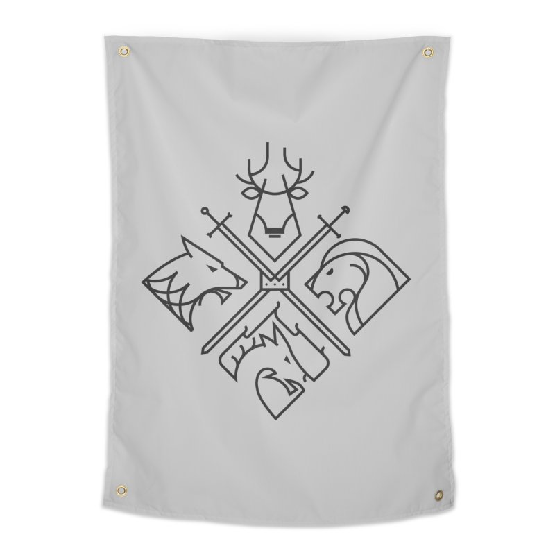 Minimal Thrones Black edition Home Tapestry by spike00