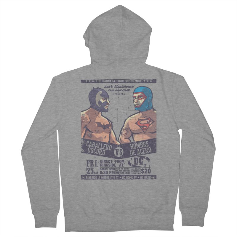 Caballero Oscuro VS Hombre de Acero Men's Zip-Up Hoody by spike00