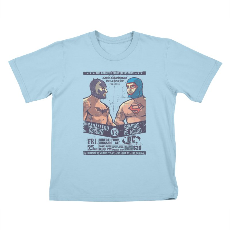 Caballero Oscuro VS Hombre de Acero Kids T-shirt by spike00