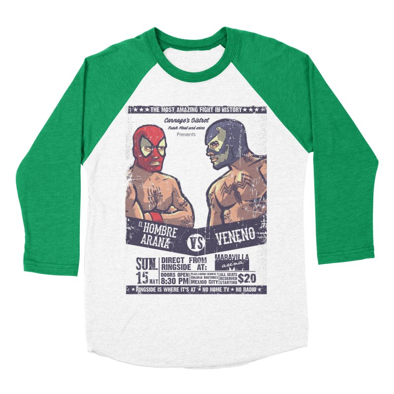 Super Luchadores Women's Baseball Triblend Longsleeve T-Shirt by spike00