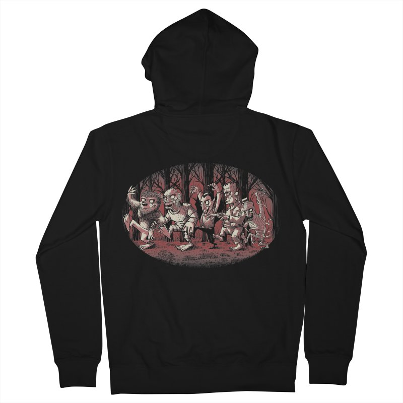 Where the wild monsters are Men's Zip-Up Hoody by spike00