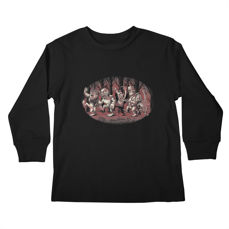 Where the wild monsters are Kids Longsleeve T-Shirt by spike00