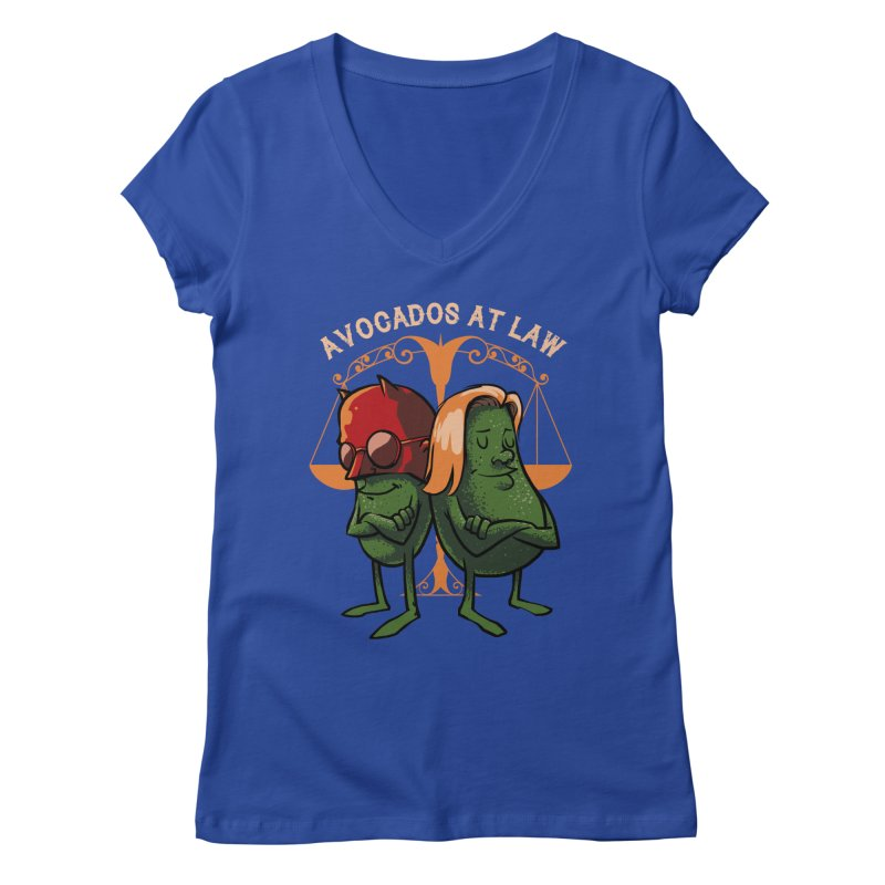 Avocados at law Women's V-Neck by spike00