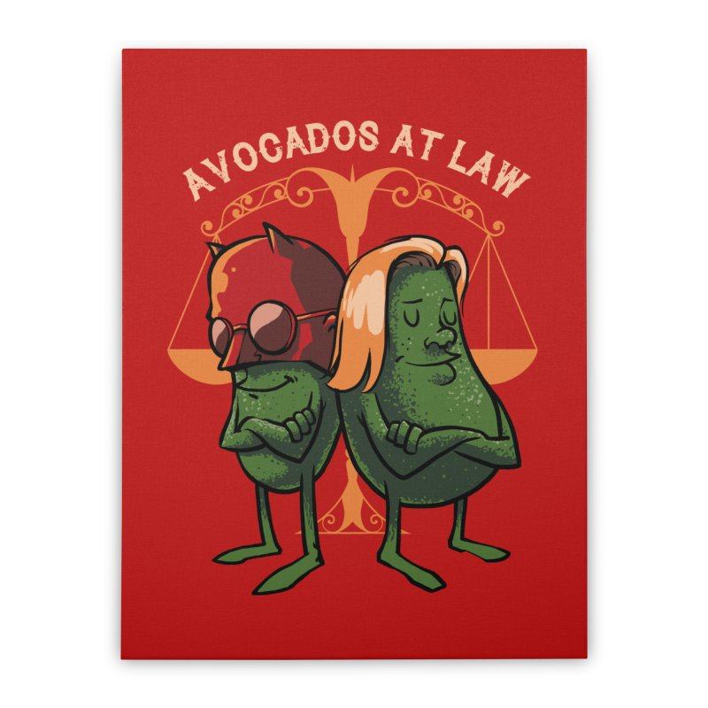Avocados at law Home Stretched Canvas by spike00