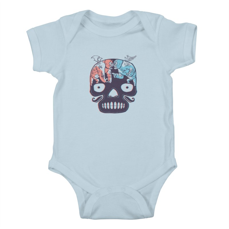 La eterna lucha Kids Baby Bodysuit by spike00