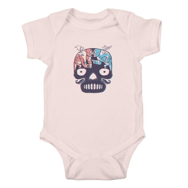 La eterna lucha Kids Baby Bodysuit by spike00