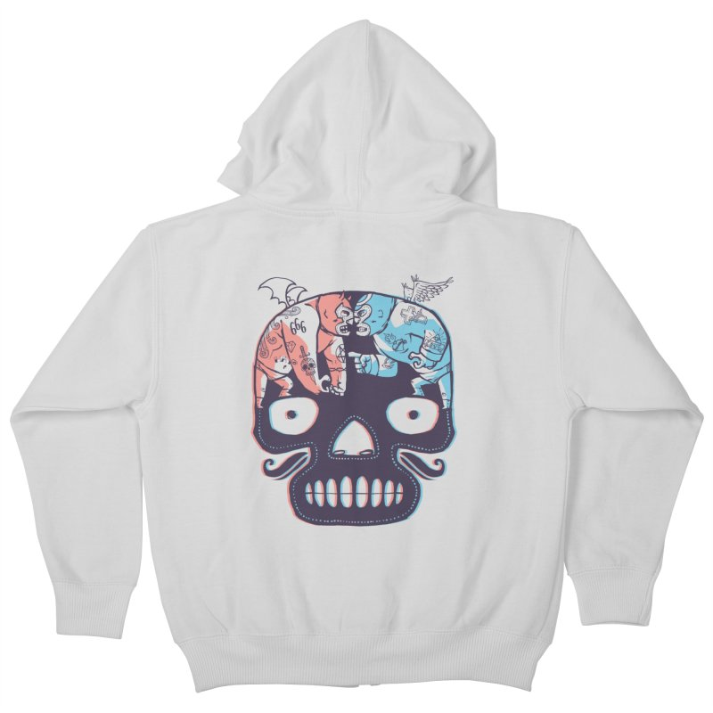 La eterna lucha Kids Zip-Up Hoody by spike00
