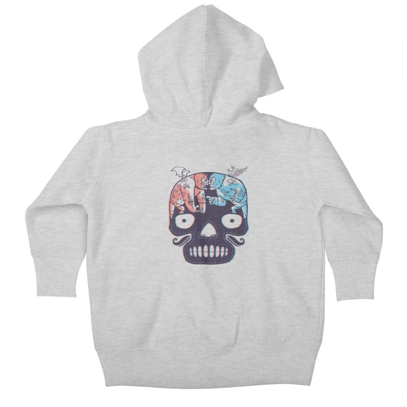 La eterna lucha Kids Baby Zip-Up Hoody by spike00
