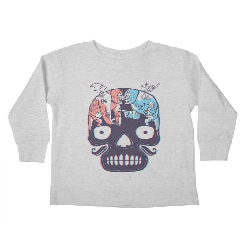 La eterna lucha Kids Toddler Longsleeve T-Shirt by spike00