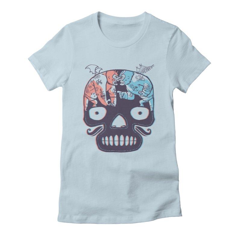 La eterna lucha Women's Fitted T-Shirt by spike00