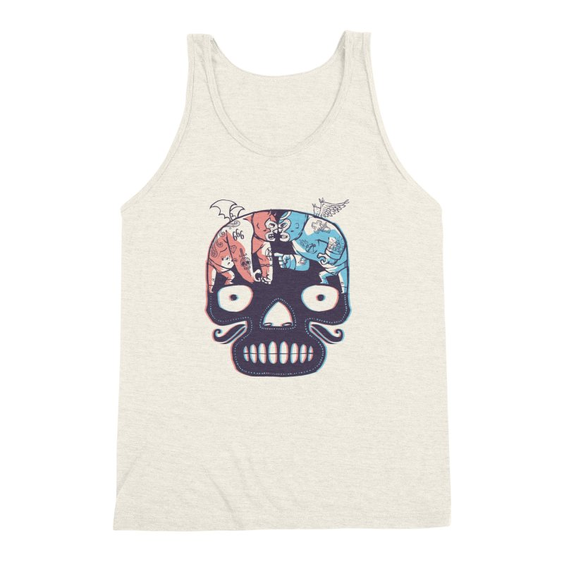 La eterna lucha Men's Triblend Tank by spike00