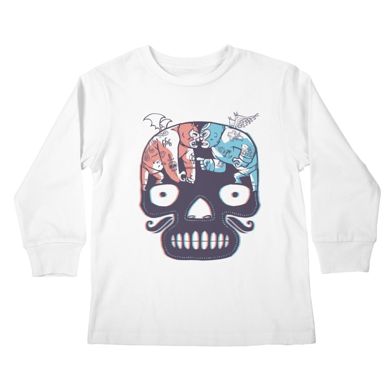 La eterna lucha Kids Longsleeve T-Shirt by spike00