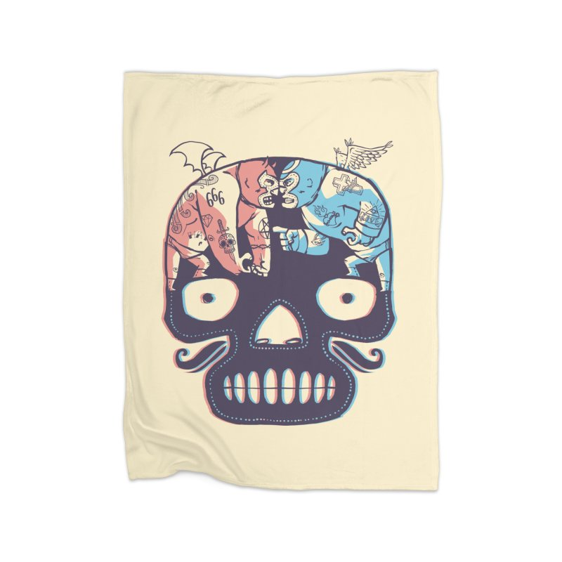 La eterna lucha Home Blanket by spike00