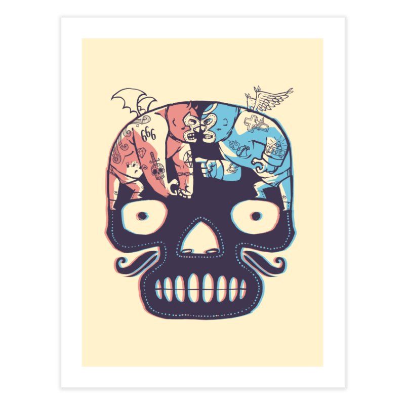 La eterna lucha Home Fine Art Print by spike00