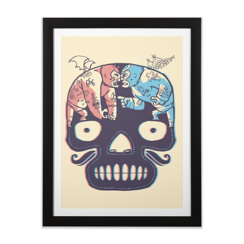 La eterna lucha Home Framed Fine Art Print by spike00